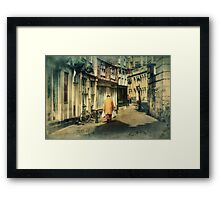 Back Streets Framed Print