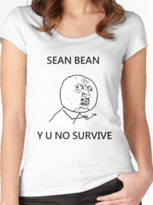 Sean Bean Y U NO Women's Fitted Scoop T-Shirt
