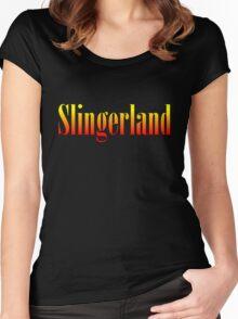 Vintage Slingerland Colorful Women's Fitted Scoop T-Shirt