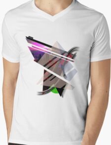 Abstract Mens V-Neck T-Shirt