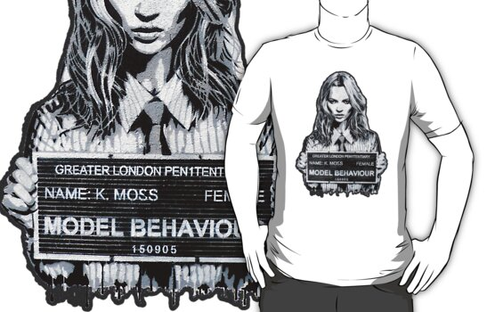 Kate Moss Stencil from London by stabilitees