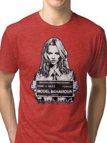Kate Moss Stencil from London Tri-blend T-Shirt