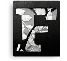 Letters of the alphabet  F Canvas Print