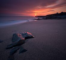 Porthleven Sunset by Sarin