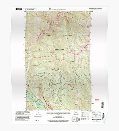 USGS Topo Map Washington State WA McLeod Mountain 242267 2002 24000 Poster