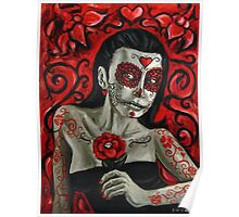Day of the Dead Girl Painting 1 Poster