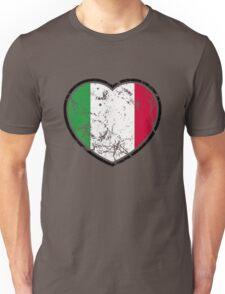 Italian Flag Heart Unisex T-Shirt