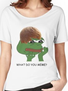 what do you mean? meme* Women's Relaxed Fit T-Shirt