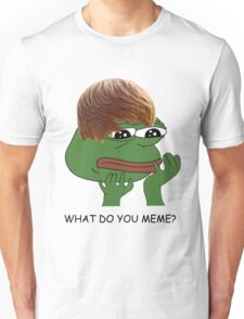 what do you mean? meme* Unisex T-Shirt
