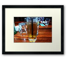 *Brandy & Dry at Luncheon -Victoria Hotel, Woodend*  Framed Print