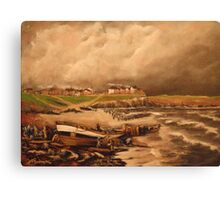Cullercoats, England from an Engraving 1880 Canvas Print