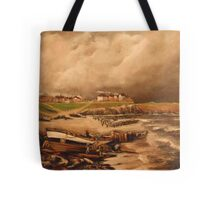 Cullercoats, England from an Engraving 1880 Tote Bag