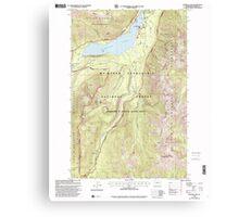 USGS Topo Map Washington State WA Bumping Lake 240269 2000 24000 Canvas Print