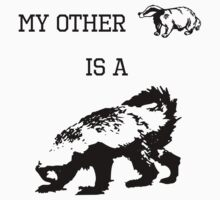 My Other Badger Is A Honey Badger Kids Tee
