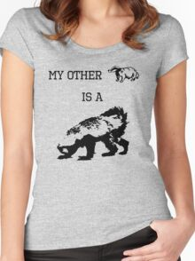 My Other Badger Is A Honey Badger Women's Fitted Scoop T-Shirt