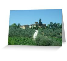 Italian Vineyard  Greeting Card