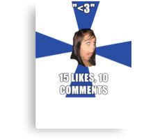 facebook girl meme Canvas Print