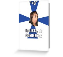 facebook girl meme Greeting Card