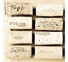 Wine Cork Collection Photographic Print