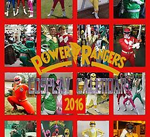 Power Rangers Cosplay Calendar 2016 by Joe Bolingbroke