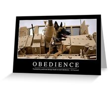 Obedience: Inspirational Quote and Motivational Poster Greeting Card