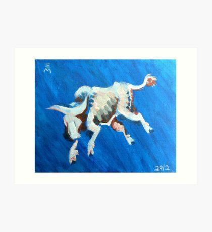 Jumping Bull Art Print