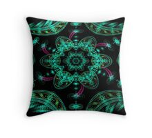 Teal Flower Throw Pillow