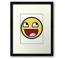 smiley meme Framed Print