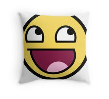 smiley meme Throw Pillow