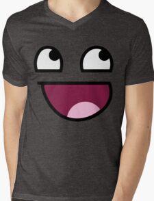 Smiley Meme Mens V-Neck T-Shirt