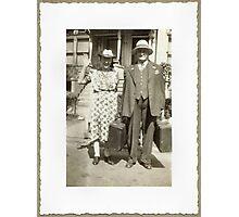 My Great Grandparents, The Halls Photographic Print