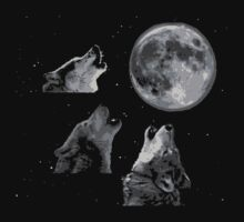 Three wolf one moon by 305movingart