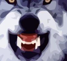wolf meme Sticker