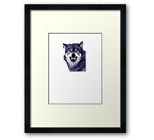 wolf meme Framed Print