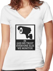 IN GOD WE TRUST Women's Fitted V-Neck T-Shirt