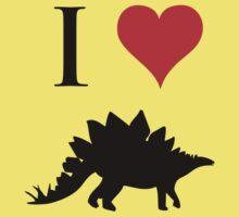 I Love Dinosaurs - Stegosaurus Baby Tee