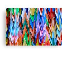 Harlequin Cranes Canvas Print