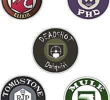 Call Of Duty Zombies- Perk A Cola Label Stickers Pt.2 by omgitsdex