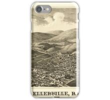Panoramic Maps Ellenville NY 1887 iPhone Case/Skin