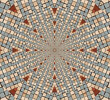 Kaleidoscope Red White and Blue by Gillian Cross