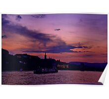 Budapest the Danube River at night.Number 3 Poster