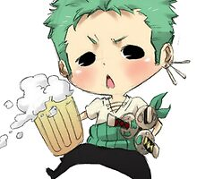 Small chibi Zoro drunk one piece by Salam s