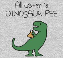 All Water Is Dinosaur Pee (T-Rex) One Piece - Long Sleeve