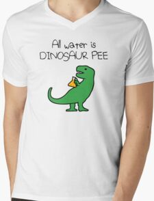 All Water Is Dinosaur Pee (T-Rex) Mens V-Neck T-Shirt