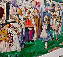 Alice Meets The King and Queen Of Hearts by phil decocco