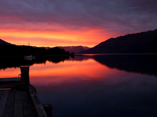 A Beautiful Day Dawns.. - Sunrise Glenorchy - NZ by AndreaEL