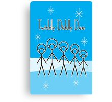 Twiddly Diddly (ice-blue) Canvas Print