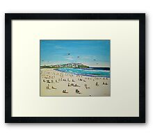 BONDI KITE FLYING Framed Print