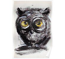 """""""Little owl boy"""" Poster"""