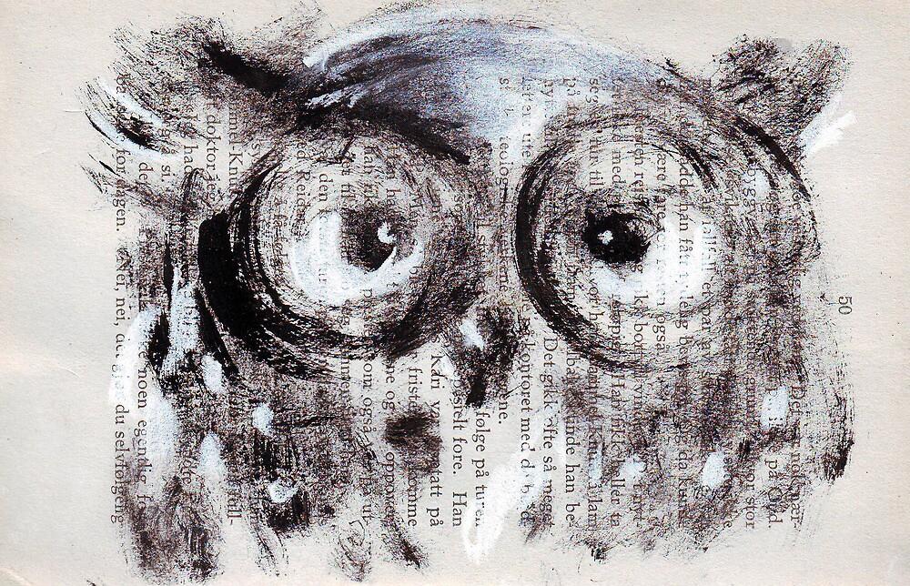 """Coffee addicted owl"" by Tatjana Larina"